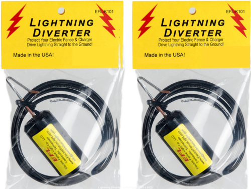 Electric Fence Lightning Diverter 2-Pack